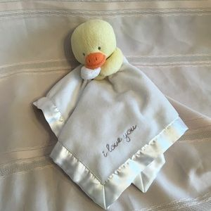 "Carter's  yellow duck baby lovey ""I love you"""